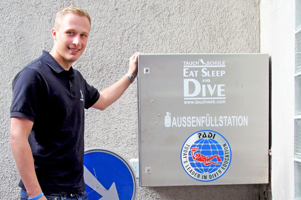 Eat Sleep and Dive – Füllsation Sauerstoff